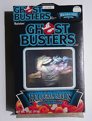 Ralston Ghostbusters Hologram Cereal Box  1986