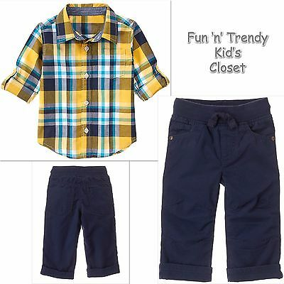 NWT Gymboree FIELD EXPEDITION Boys Sz 18-24 Months 2T Tee Shirt Shorts 2-PC SET