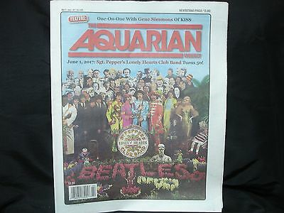 BEATLES - SGT. PEPPER - great front page article in AQUARIAN weekly newspaper!!!