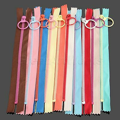 10pcs Sewing Accessories 15/20/30/40cm Zip Hanging Ring Puller Zipper Closed End