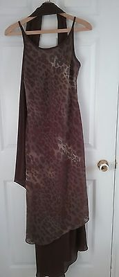 ALGO Summer Dress women SIZE 8 comes with scraf