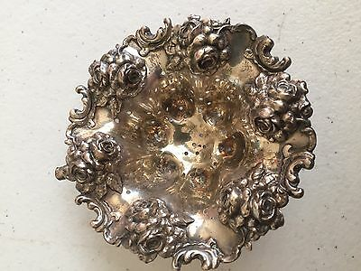 Ornate Sterling Tea Strainer With Roses