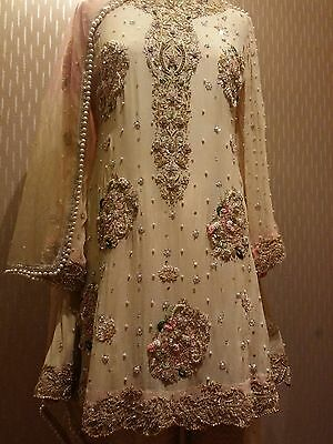 pakistani embroided elan inapired wedding/party wear dress. Made to order
