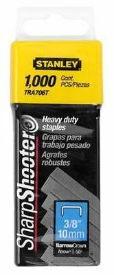 """Stanley Heavy Duty Staples 3/8"""" (10mm) Pack of 1000: TRA706T"""