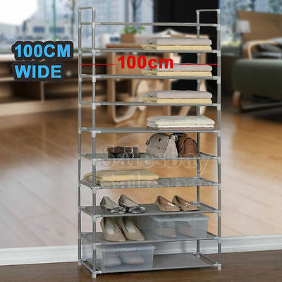 Large Upgraded Model 50 Pairs 10 Tiers Stackable Storage Shoe Rack Holder