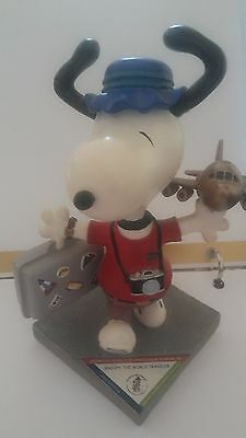 "Snoopy ""The World Traveler"" Peanuts Resin Figurine Statue from Westland Giftware"