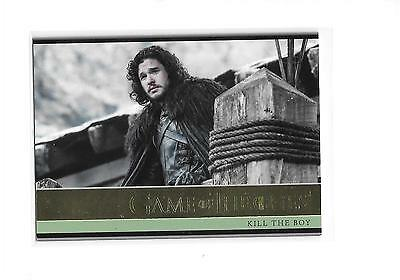 Game of Thrones Season 5 Kill The Boy #13 Gold Parallel /150
