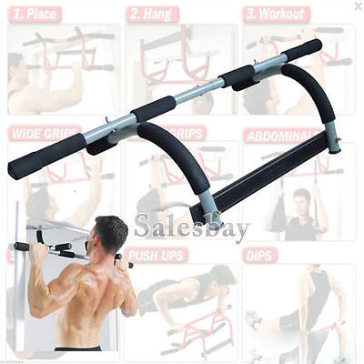 002-Portable Exercise Doorway Cardio Chin UP Bar Iron Gym Home Fitness Exerciser