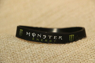 monster energy silicone wristband,black, free fox wristband and freepost