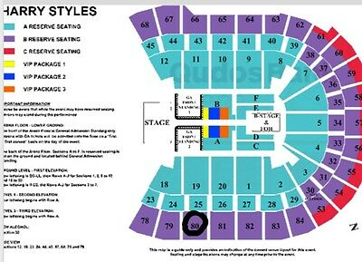 Harry Styles Tickets Sydney B Reserve Seating (4 available) Fri 27 Apr 2018