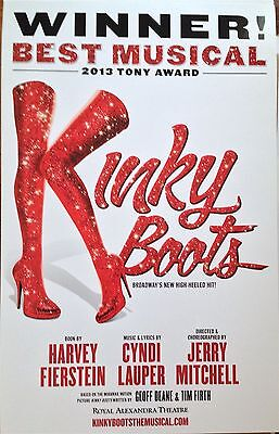 Kinky Boots Broadway Musical Lauper & Fierstein Promotional Poster / Lobby Card