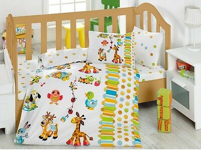 Playgrounds Baby Duvet Cover Set, Animals Pattern, Toddlers Bedding, 100%Cotton