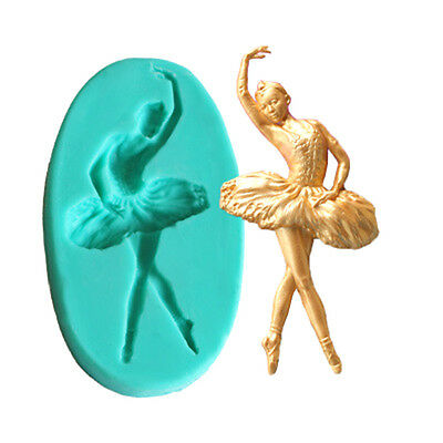 DIY Silicone Ballet  Dance Girl Cupcake Chocolate Fondant Mould Cake Molds Tool