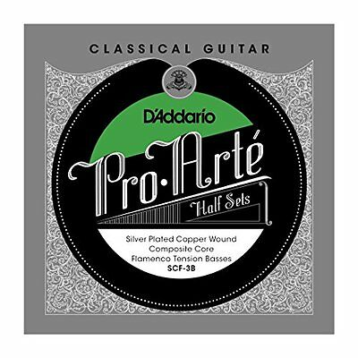 D'Addario Silver Copper on Composite Core Classical Guitar Half Set, Flamenco