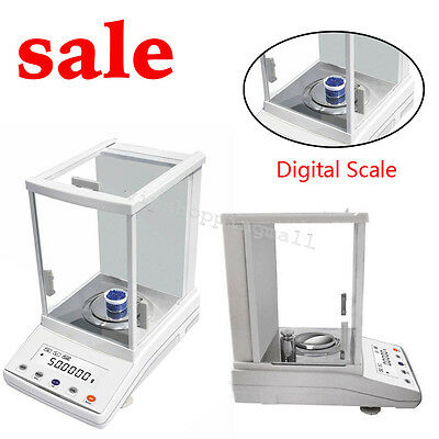 100 x 0.0001g Precious Electronic Analytical Balance Lab Digital Scale Easy Use