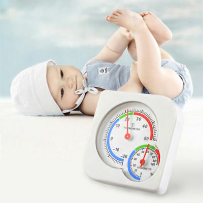 Nursery Baby House Room Mini Thermometer Wet Hygrometer Temperature Meter AU CO