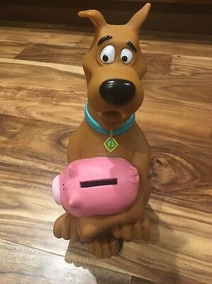 "Scooby Doo Pig Coin Bank Hanna Barbera 1998 9"" Tall Plastic"