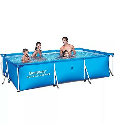 Bestway 102 x 67 x 24 Inches 860 Gallon Deluxe Splash Frame Pool | 56498