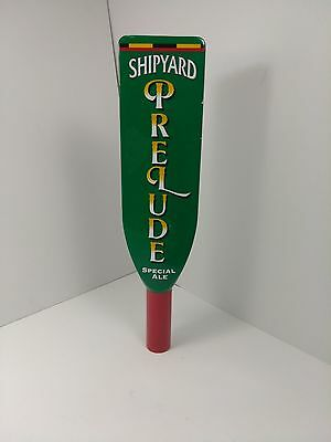 Shipyard Prelude Special Ale Beer Tap Draft Handle Man Cave Green Red