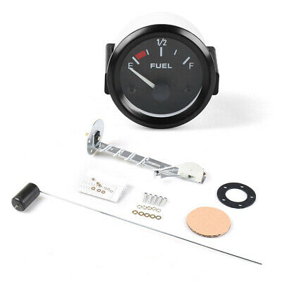 2'' 52mm Car Fuel Level Gauge Meter with Fuel Sensor E-1/2-F Pointer Indicator