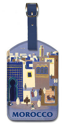 Pacifica Island Art Leatherette Luggage Baggage Tag Berlin by Richard Blank