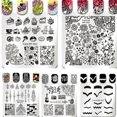 Born Pretty Nail Art Stamping Plates Image Stamp Stencils Templates Manicure