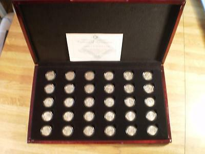 2009-PDS 30 Coin Territory Quarter Collection in Wood Box