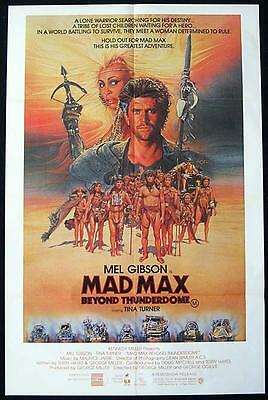 MAD MAX BEYOND THUNDERDOME 1986 Mel Gibson RARE Australian 1 sheet Movie poster