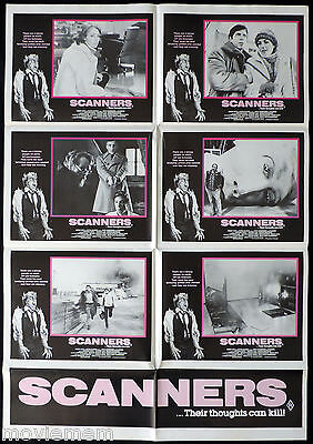 SCANNERS Original Australian Photo Sheet Movie poster David Cronenberg Horror