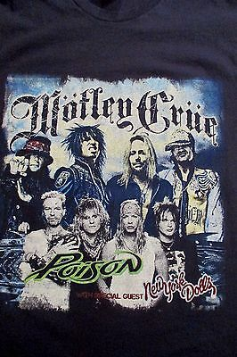 Motley Crue POISON Bret Michaels, 2011 Concert Tour  T Shirt M Medium BAD BOYS