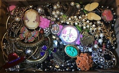 Huge Vintage to Now Jewelry Lot Estate Find Junk Drawer UNSEARCHED UNTESTED #212