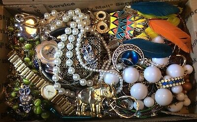 Huge Vintage to Now Jewelry Lot Estate Find Junk Drawer UNSEARCHED UNTESTED #213