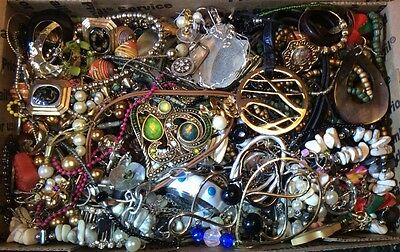 Huge Vintage to Now Jewelry Lot Estate Find Junk Drawer UNSEARCHED UNTESTED #214