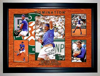 Rafael Nadal 'domination' 2017 French Open 5 Photo Collage Signed Print/framed