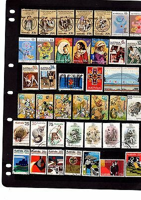 Aust  Dec Used Stamps - Page Of Early Decimal Used Stamps