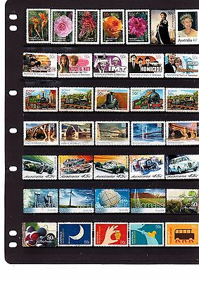 Aust  Dec Used Stamps - Page Of 37 Decimal Used Stamps