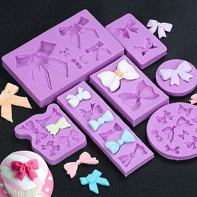 Butterfly Bowknot Silicone Fondant Mold Cake Decorating Chocolate Baking Mould