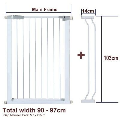 103CM High Adjustable 89-98CM Baby Pet Child Safety Security Gate Stair Barrier
