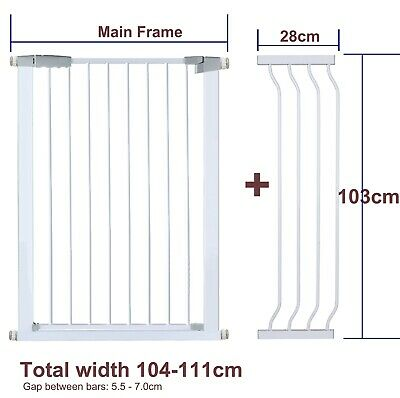 103CM High Adjustable 103-112CM Baby Pet Child Safe Security Gate Stair Barrier