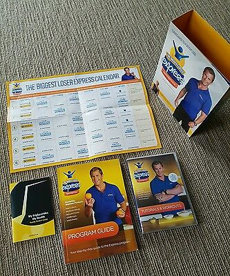 The biggest loser express rapid weight loss kit including menu & 6 dvds! As new!
