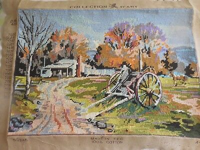 Tapestry Australian Country Scene Completed And Framed