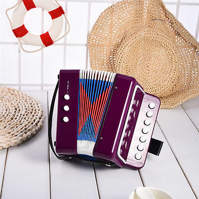Beibeile Children 7-Key 2 Bass Portable Mini Accordion Music Educational Gift