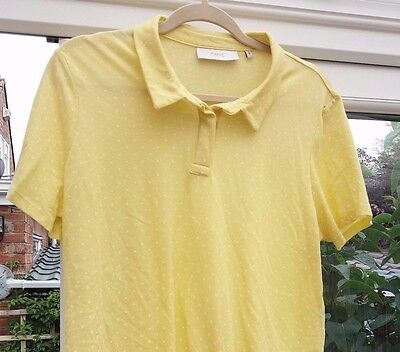 Lemon & White Spotted Summer Top By Next Size 18