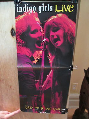 INDIGO GIRLS - Live / Back On the Bus, Y'all  -  Rare POSTER   11 x 23.75 inches