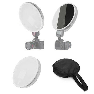 31cm Mini Round Disc Softbox Diffuser Flash For Canon Nikon Sony Pentax +Bag HOT
