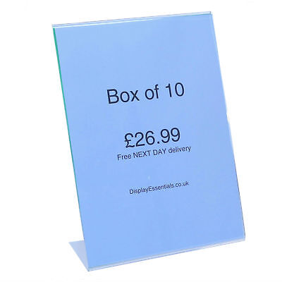 A4 Portrait Menu Poster Holder 10 pack Free Next Day Delivery