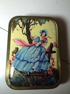 Victorian Themed Candy Tin Vintage