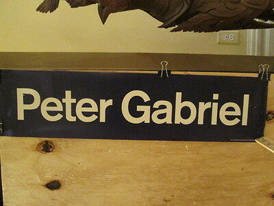 PETER GABRIEL - So - 6.5 x 26.5 inches  Rare 1986 POSTER