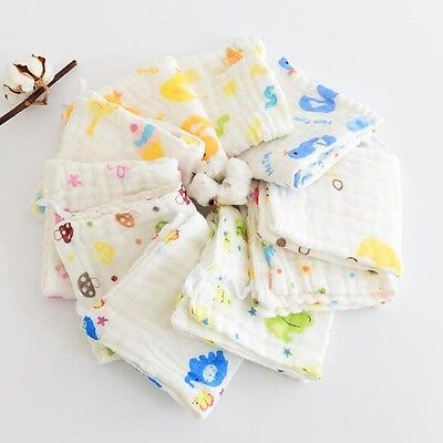 Pack Of 6 Baby Kids Soft Wash Cloth Bath Feeding Shower Towel Flannel Wipe