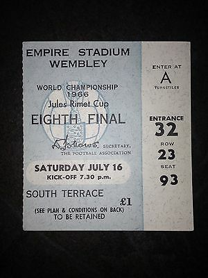 1966 World Cup Ticket:- England v Mexico